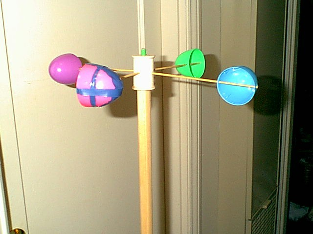An anemometer is an instrument for measuring wind force and velocity/speed.